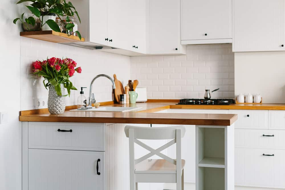 A Charming Cranny for One kitchen bar ideas