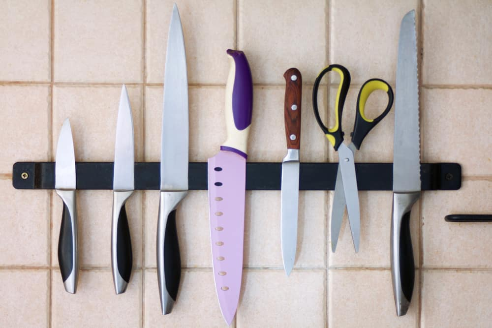 A Magnetic Strip for Your Kitchen Shear kitchen cabinet hardware ideas