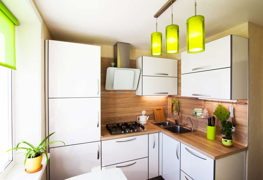 Add A Pop of Color small kitchen ideas