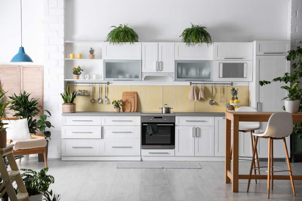 Add Plants kitchen makeover ideas