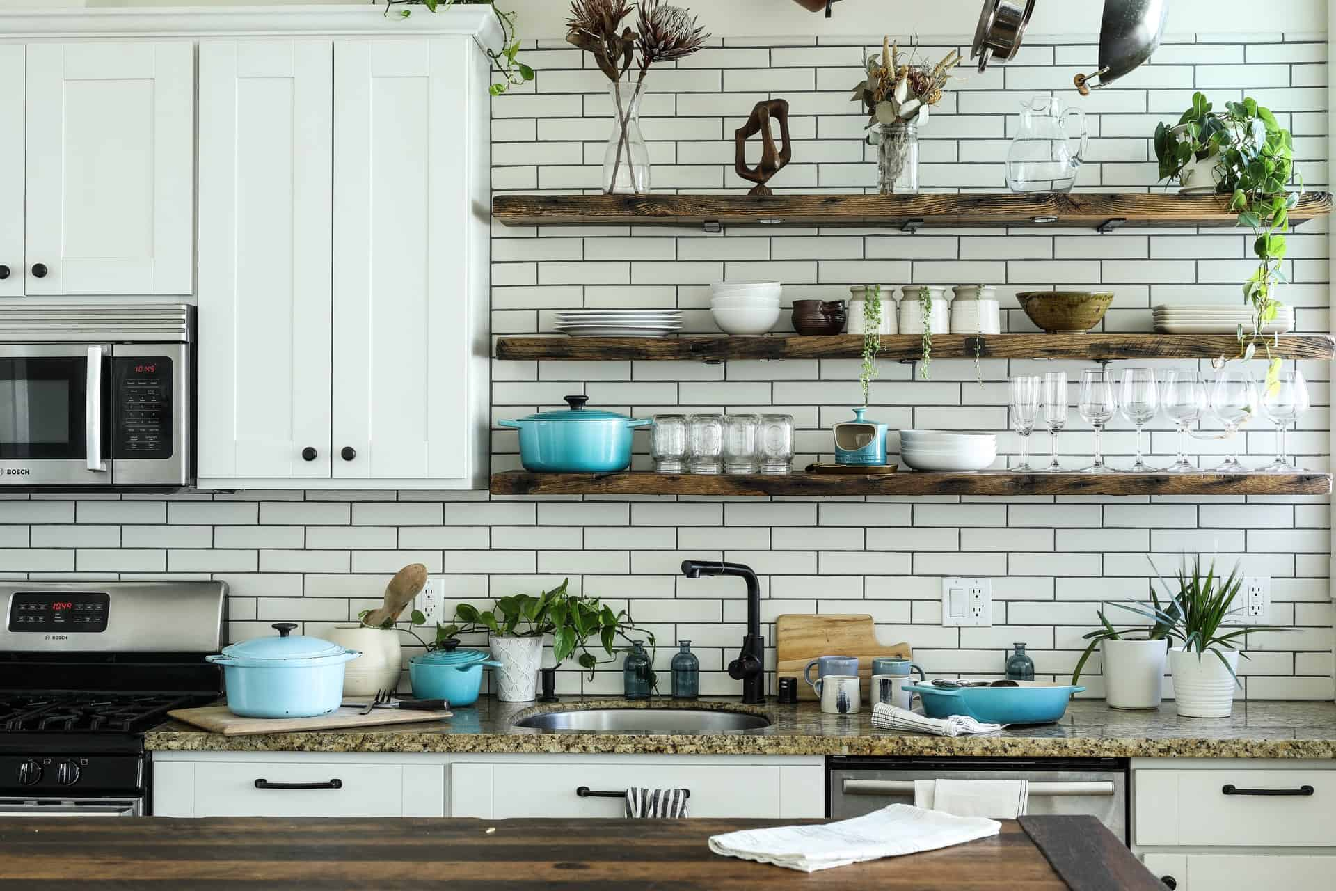 Add Shelves for Elegance kitchen peninsula ideas