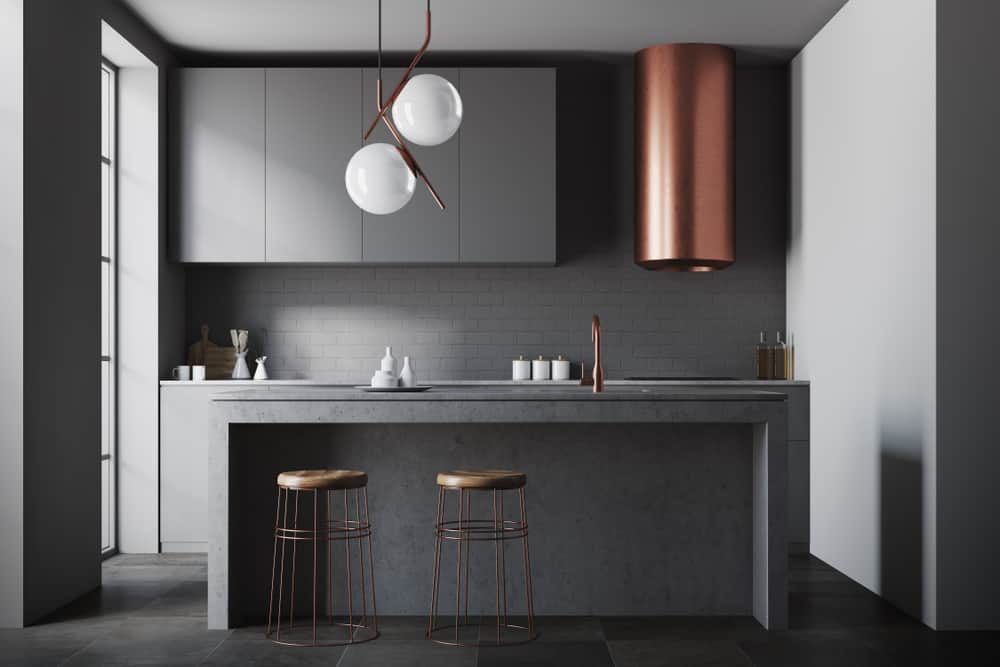 All Black with Copper Highlights monochrome kitchen ideas