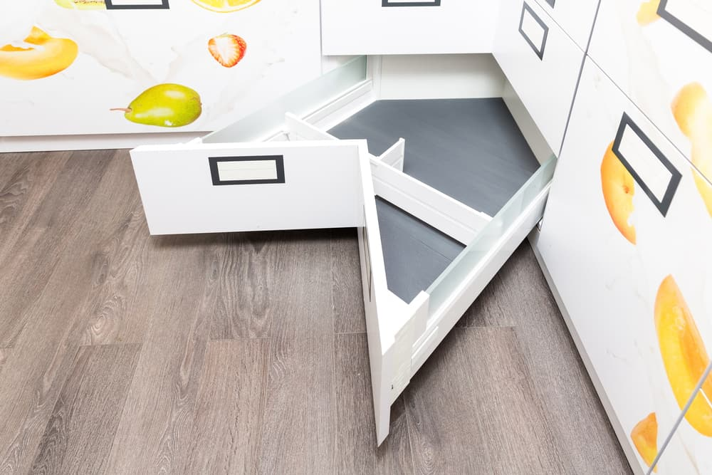Angled Drawers kitchen corner ideas