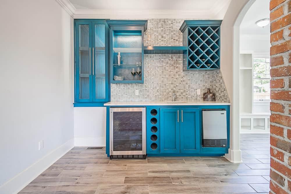 Azure Blue kitchen cabinet color ideas