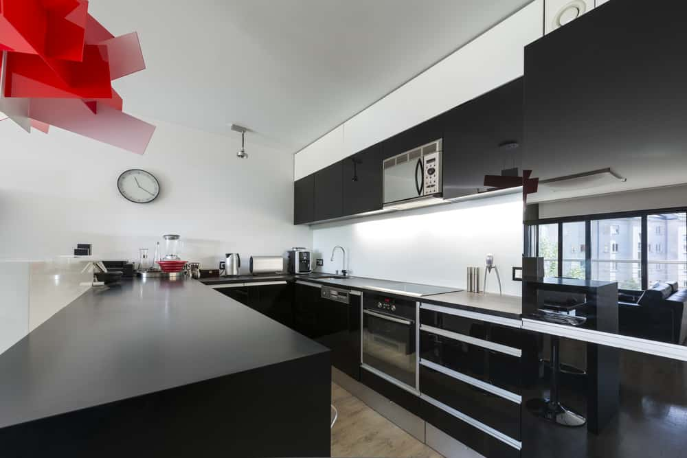 Black Cabinets White Wallsmonochrome kitchen ideas
