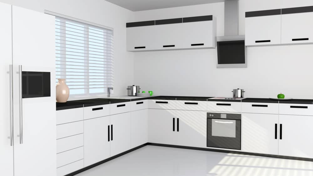 Black Handles and Trimmings monochrome kitchen ideas