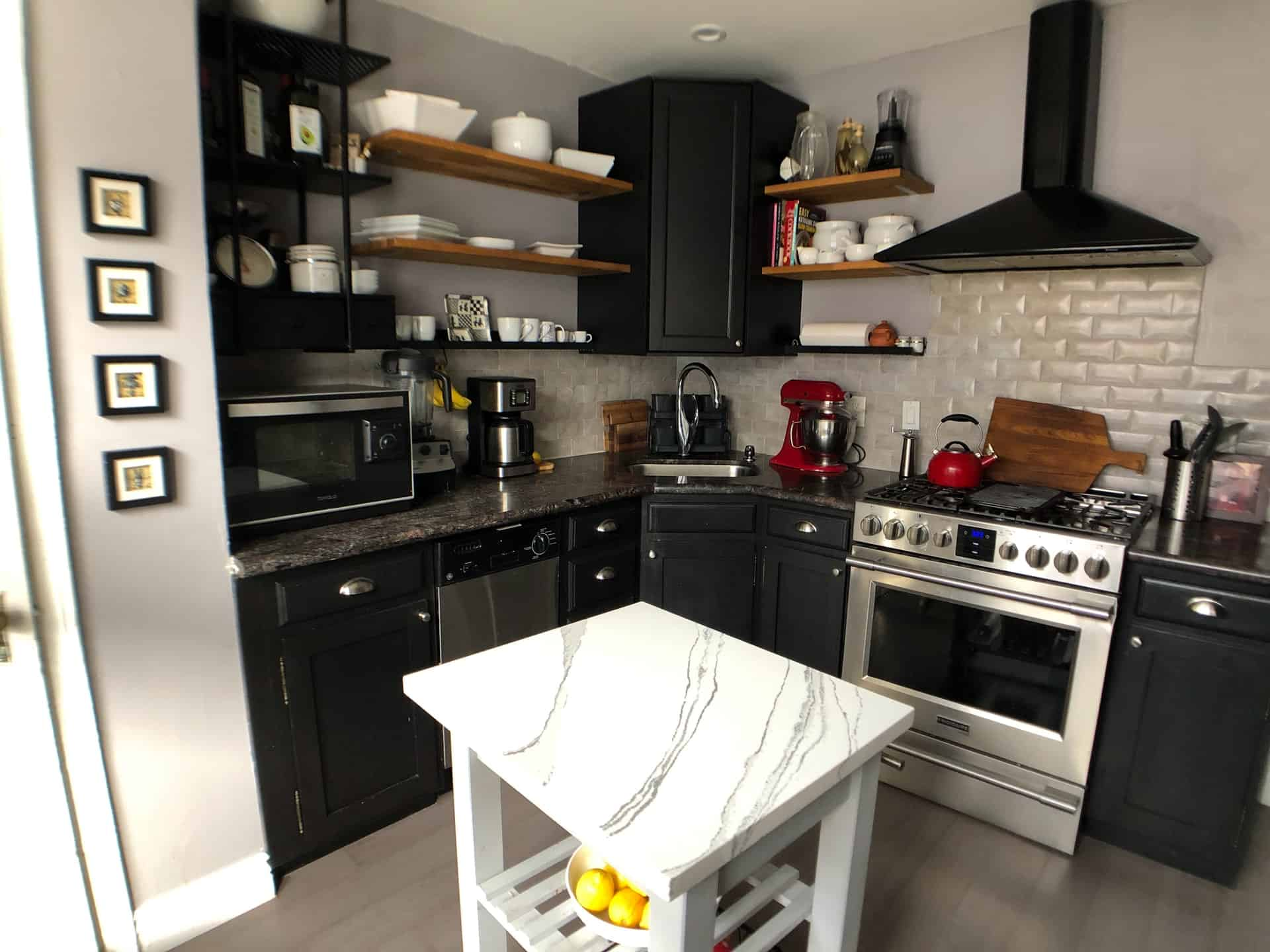 Black to Black kitchen cabinet ideas