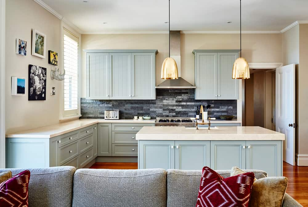 Blue Cabinets coastal kitchen ideas