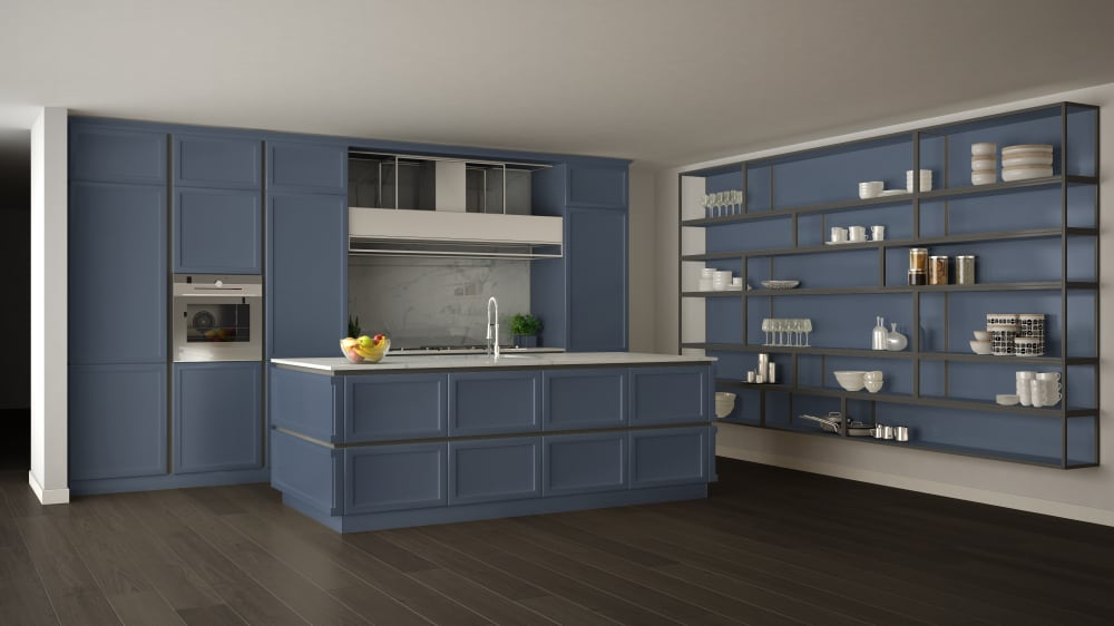 Blue Shelves kitchen cabinet ideas