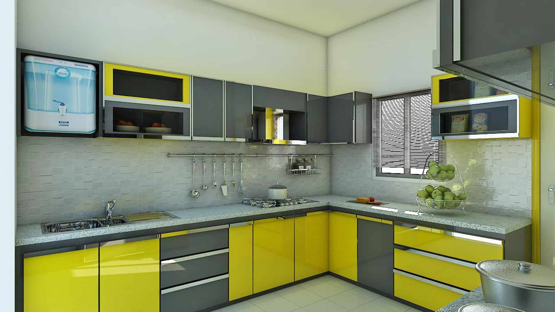 Bumblebee Meets Gray kitchen cabinet ideas