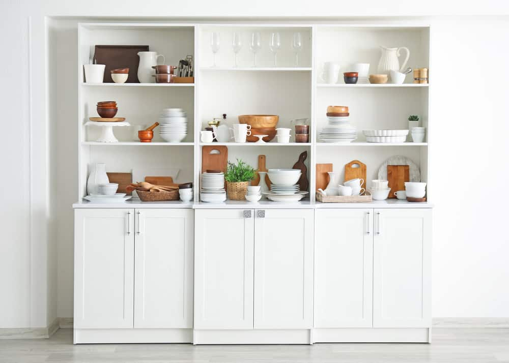 Cabinet with kitchen Shelves
