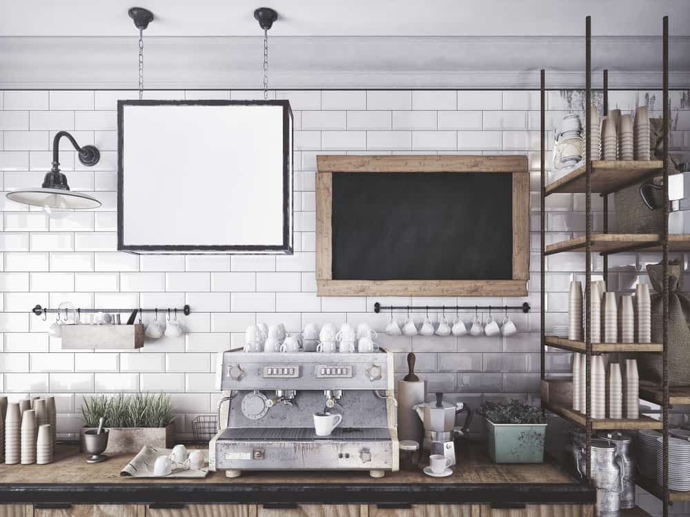 Café-Style Coffee Bar kitchen coffee bar ideas