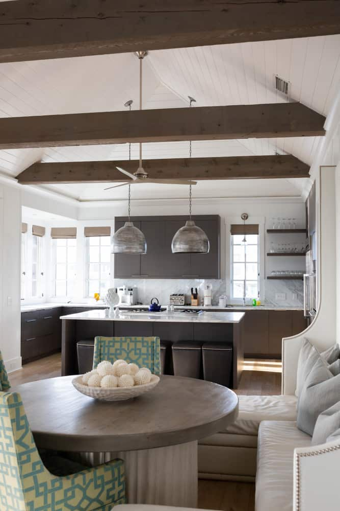 Ceilings and Beams coastal kitchen ideas
