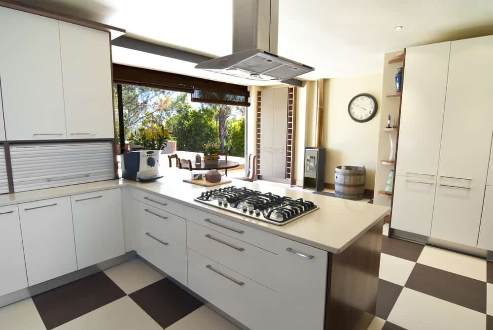 Checkered Floor monochrome kitchen ideas