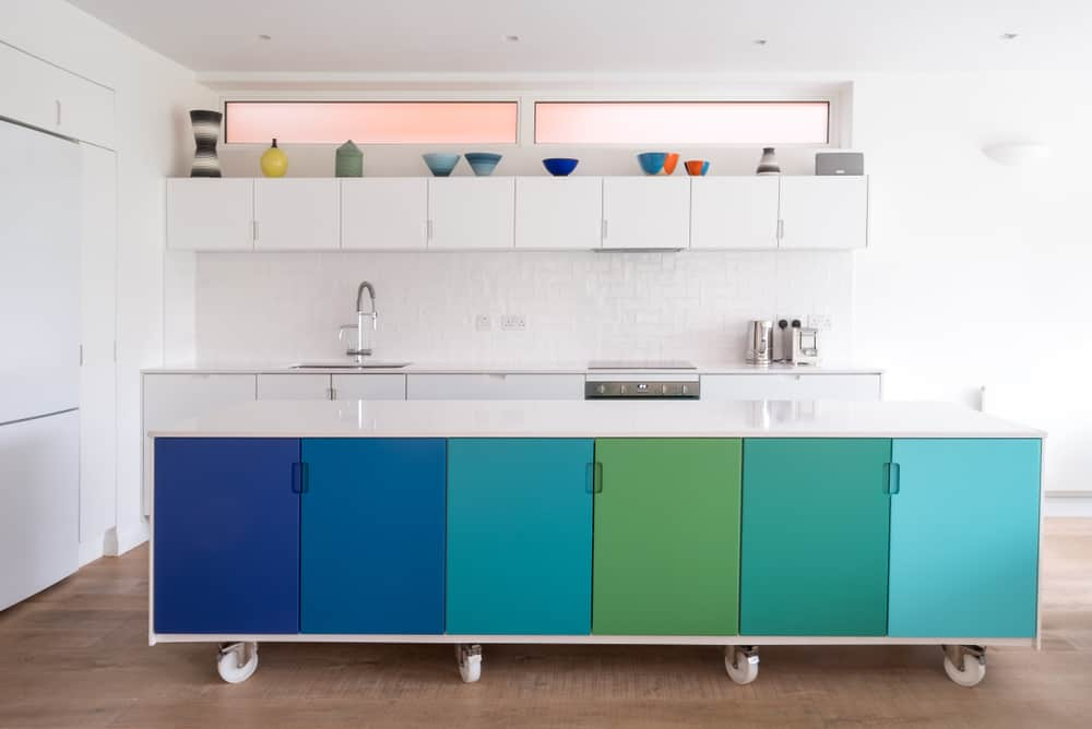 Choose More Than One Color painted kitchen cabinets ideas