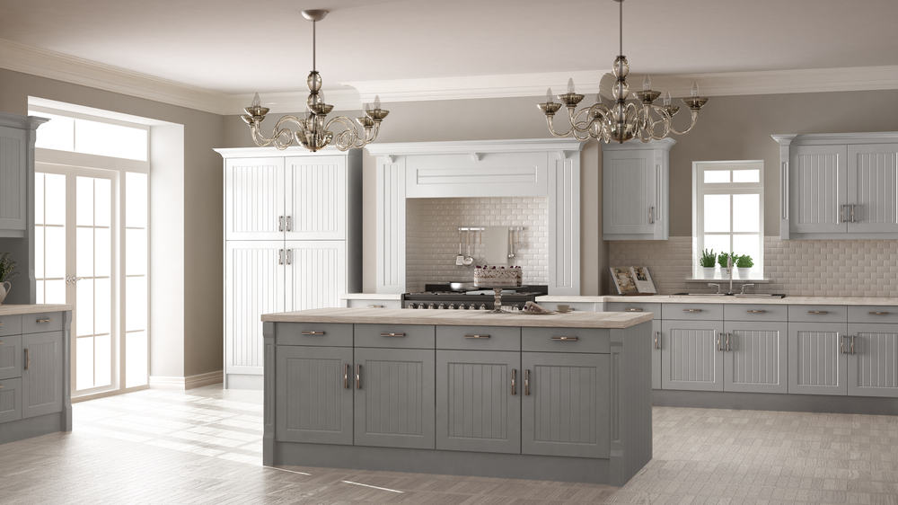 Classic and Minimal Gray and White kitchen cabinet ideas