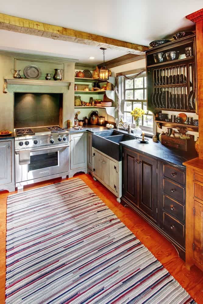 Combined Colour cabin kitchen ideas