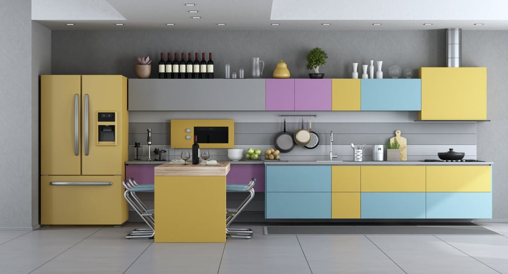 Contrasting colors kitchen cabinet color ideas