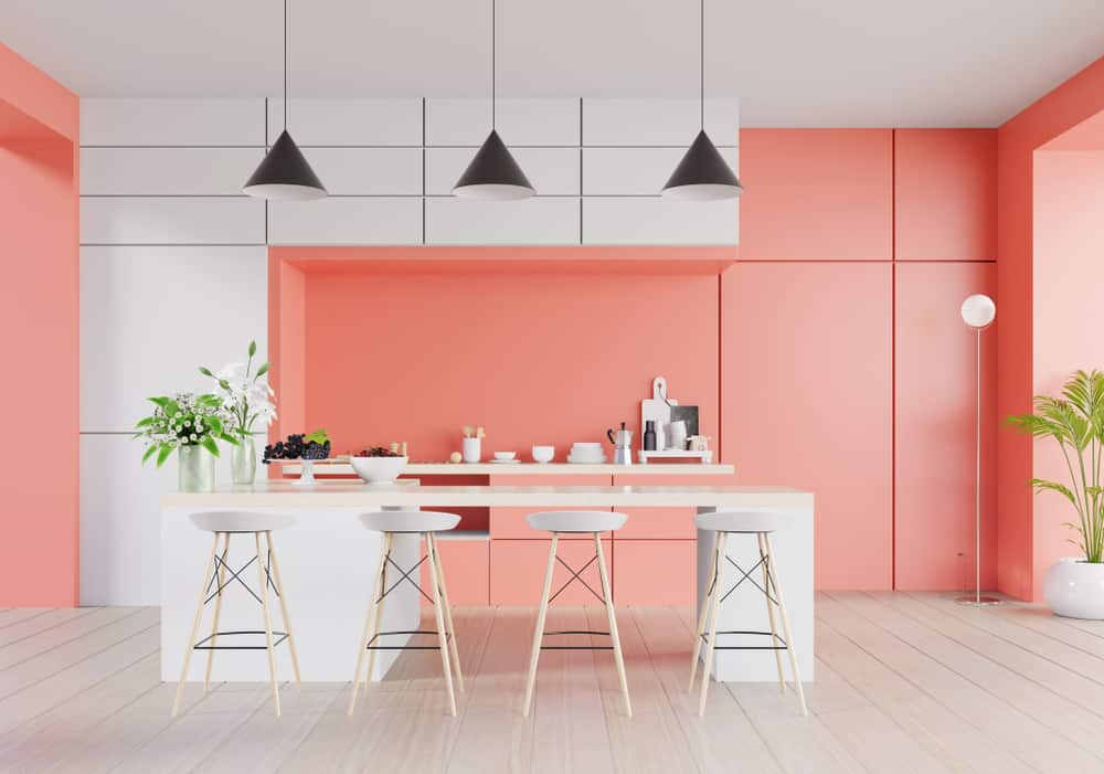 Cotton-candy Pink kitchen cabinet color ideas