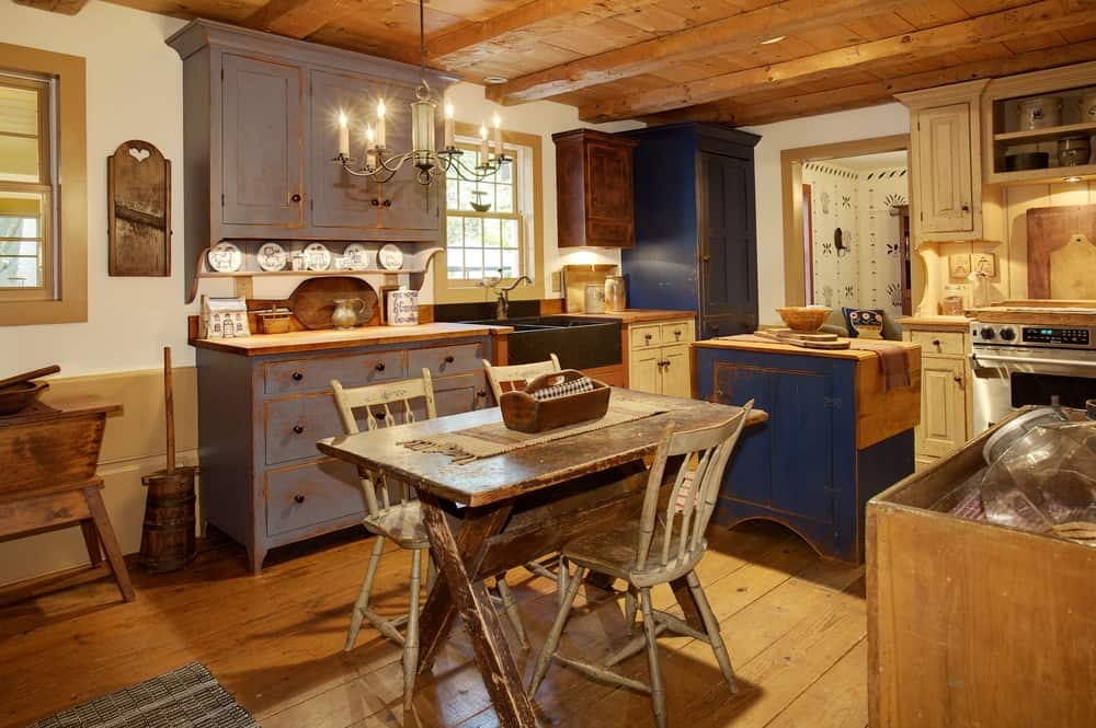 Distressed Cabinets cabin kitchen ideas