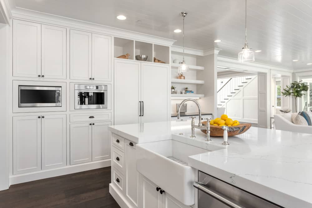 Floor to Ceiling White kitchen cabinet ideas