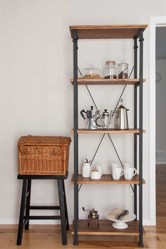 Freestanding Tall Coffee Shelf kitchen coffee bar ideas