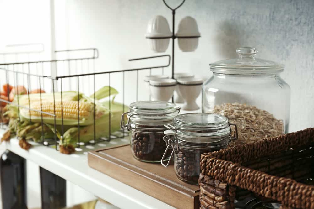 Glass Coffee Containers kitchen coffee bar ideas