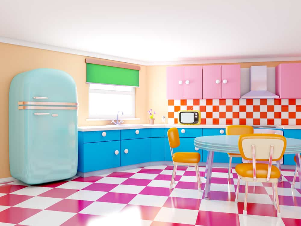 Go Retro painted kitchen cabinets ideas