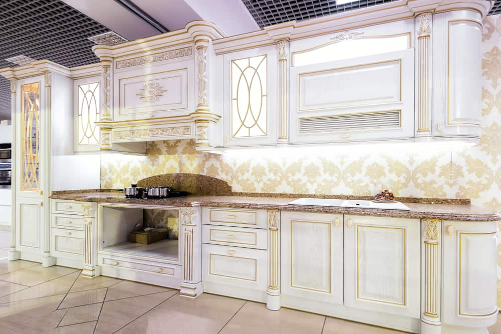 Gold Accents kitchen cabinet color ideas