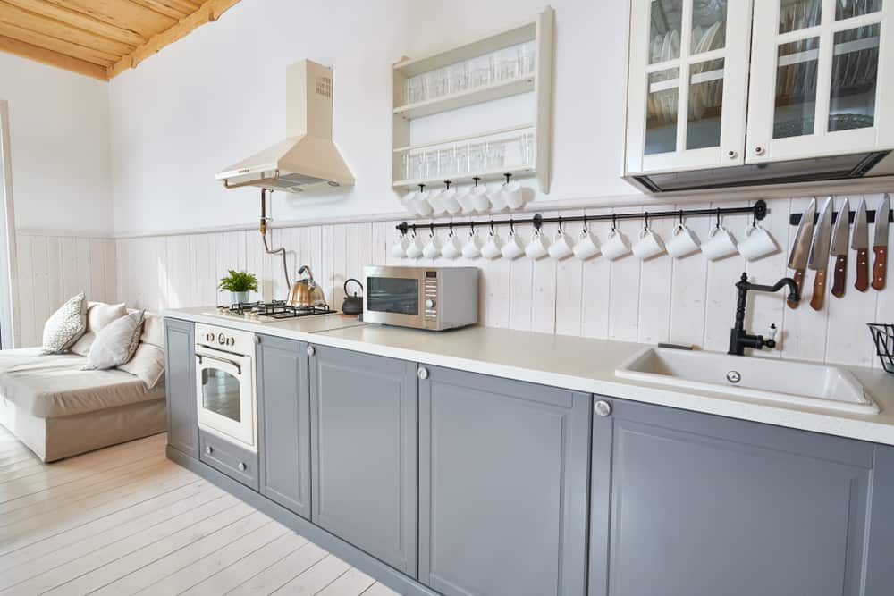 Gray with a White Top kitchen cabinet ideas