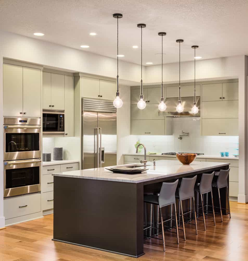 Green and Wood kitchen cabinet ideas