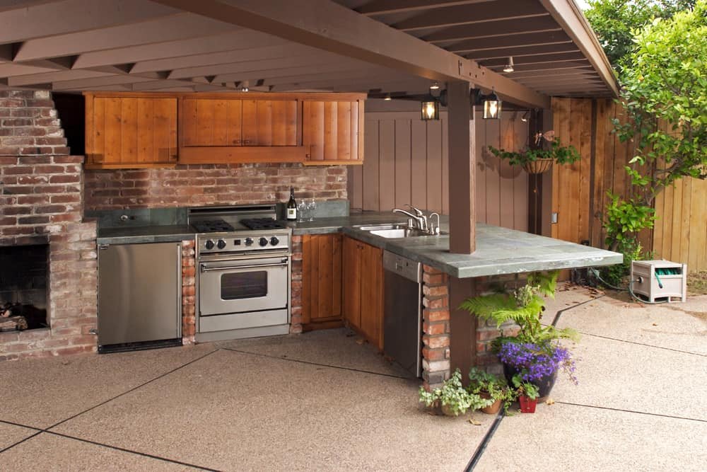 Kitchen and Dining All in One outdoor kitchen ideas