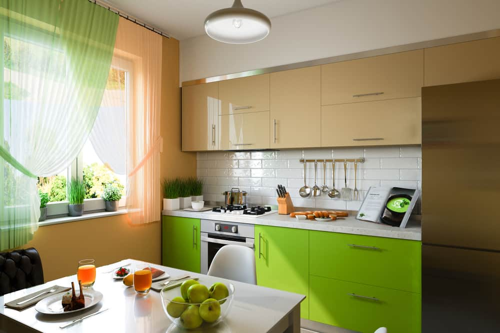 Lime Green kitchen cabinet color ideas