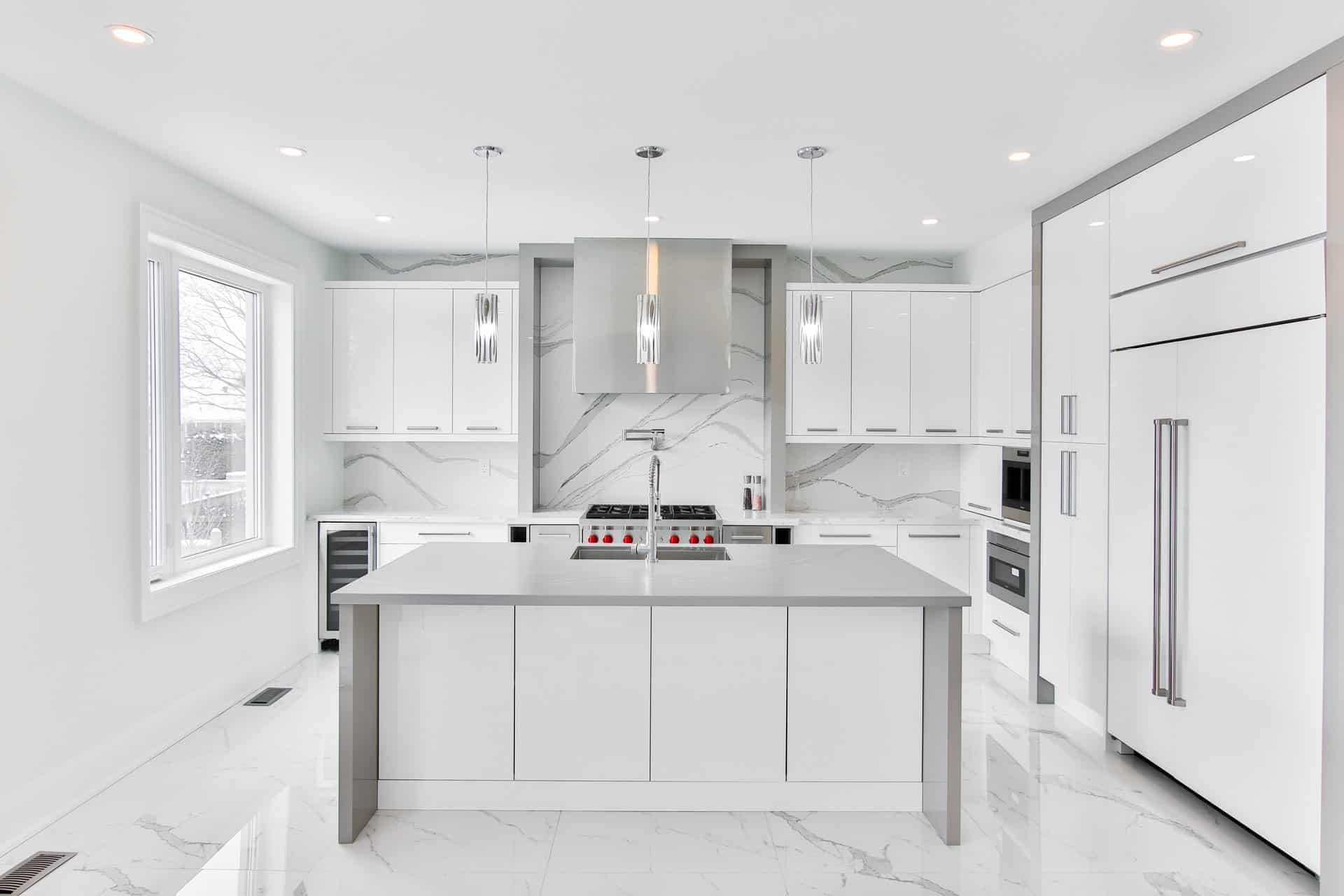 Marble from Head to Toe white kitchen ideas