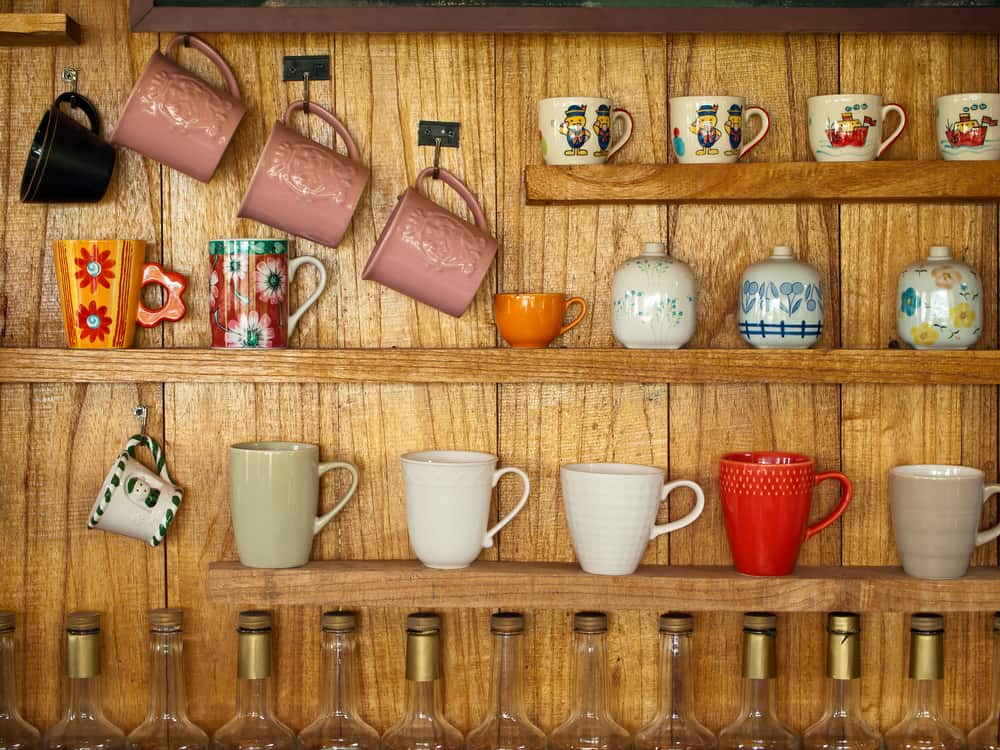 Mug Display kitchen coffee bar ideas