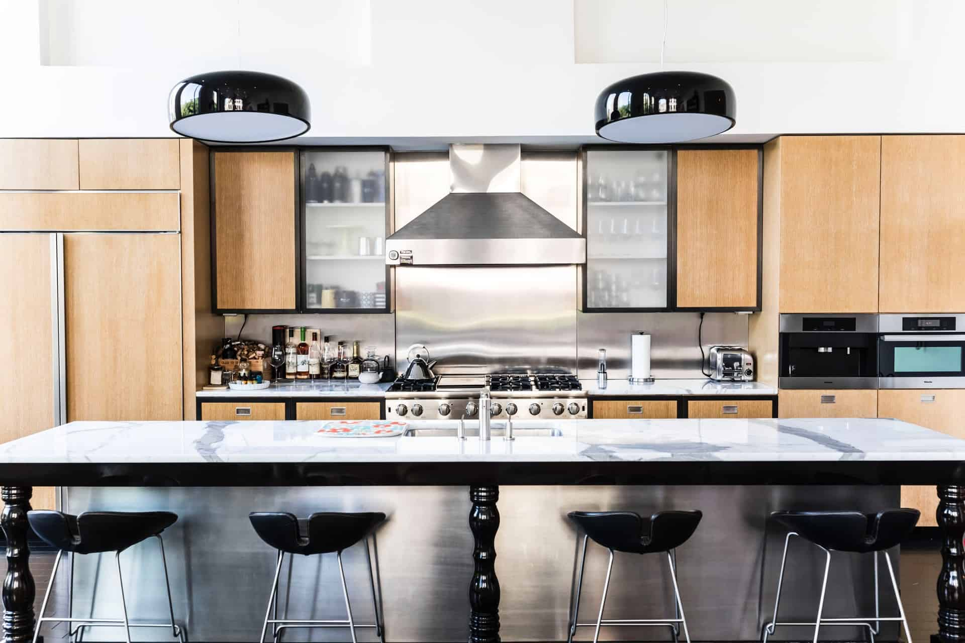 Natural Wood in A Modern Space kitchen cabinet ideas