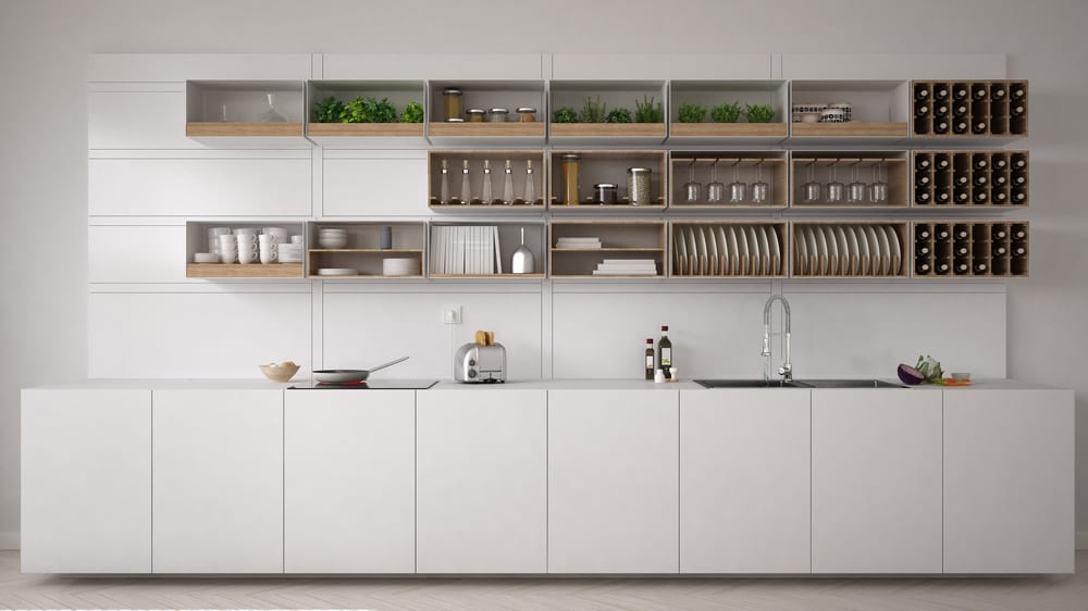 Open Your Shelves Up white kitchen ideas