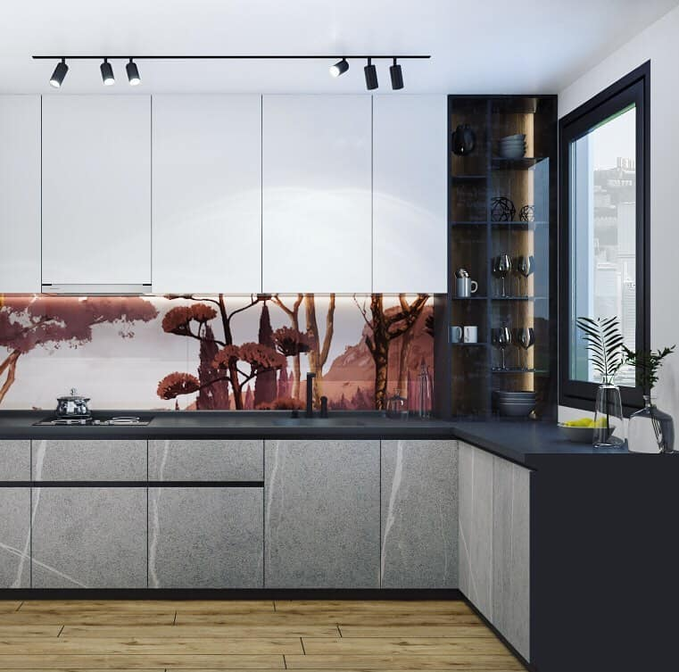 Panoramic Scenery kitchen wallpaper ideas