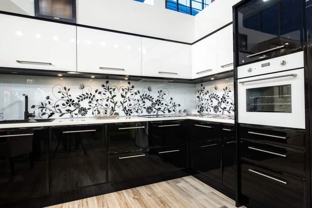 Patterned Backsplash monochrome kitchen ideas