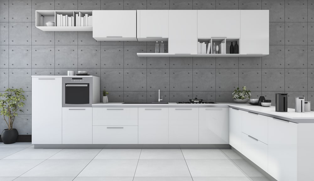Play with Gray white kitchen ideas