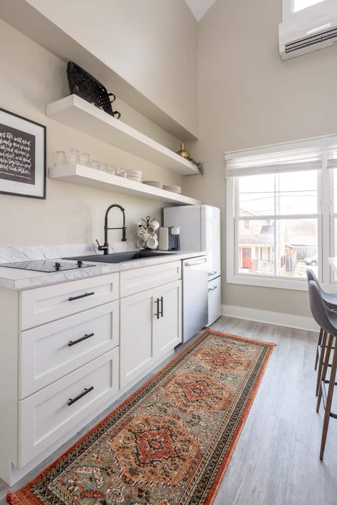 Play with Rugs white kitchen ideas