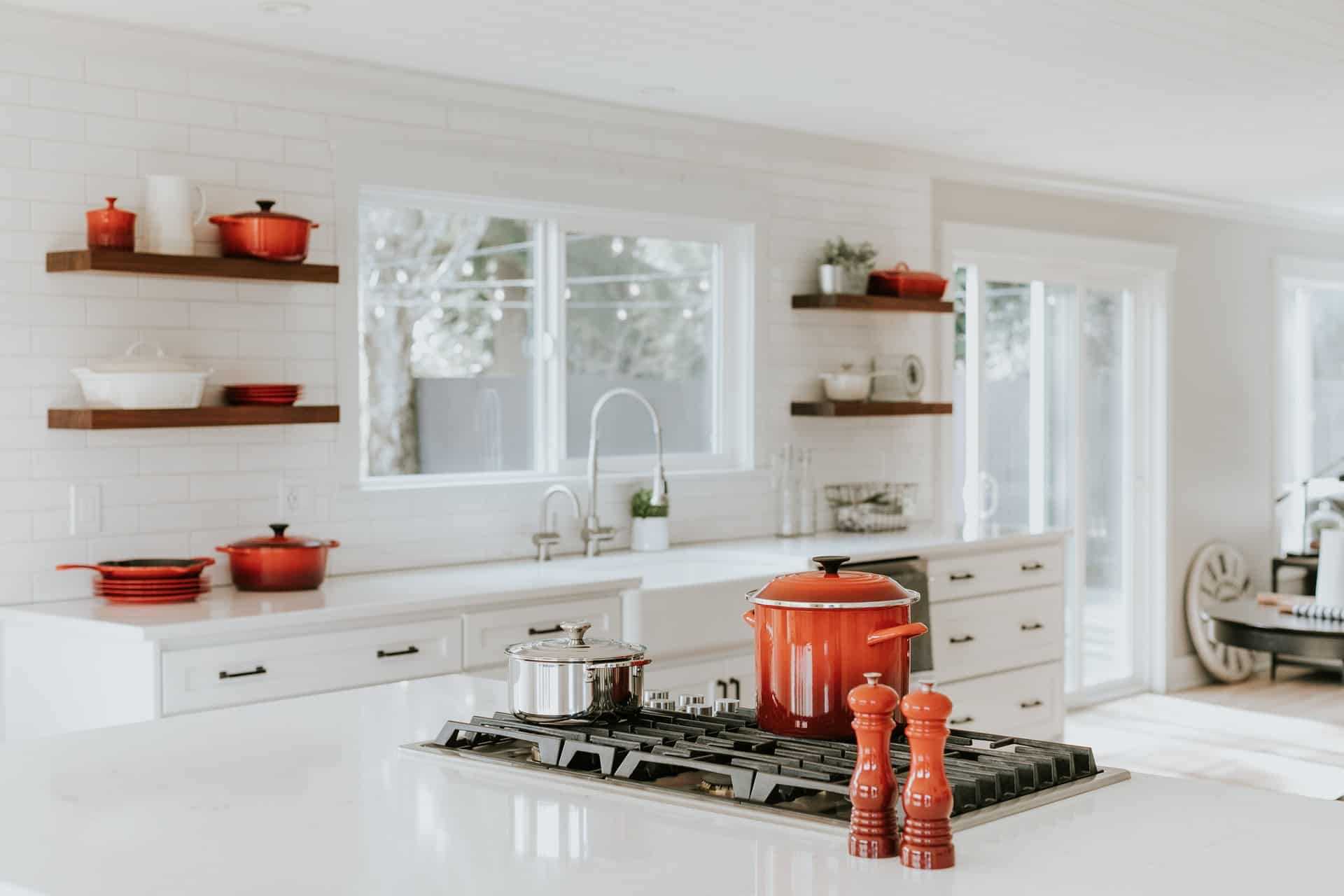 Red is Also Coastal coastal kitchen ideas