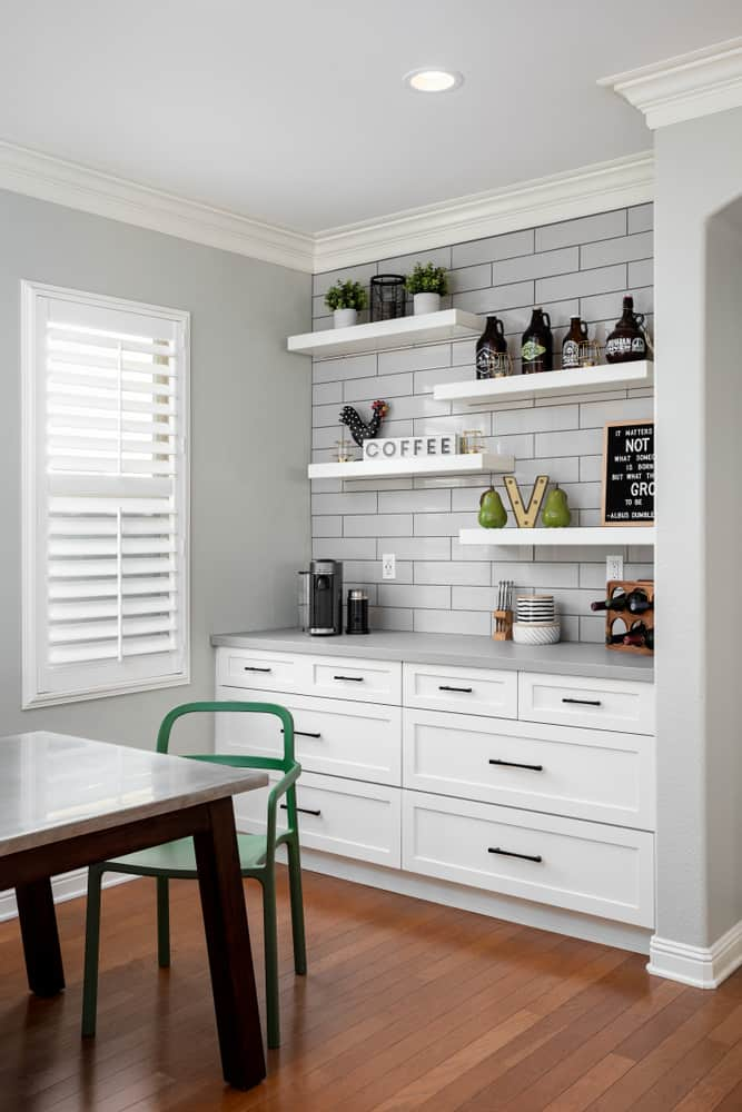 Spaced and Decorative kitchen coffee bar ideas