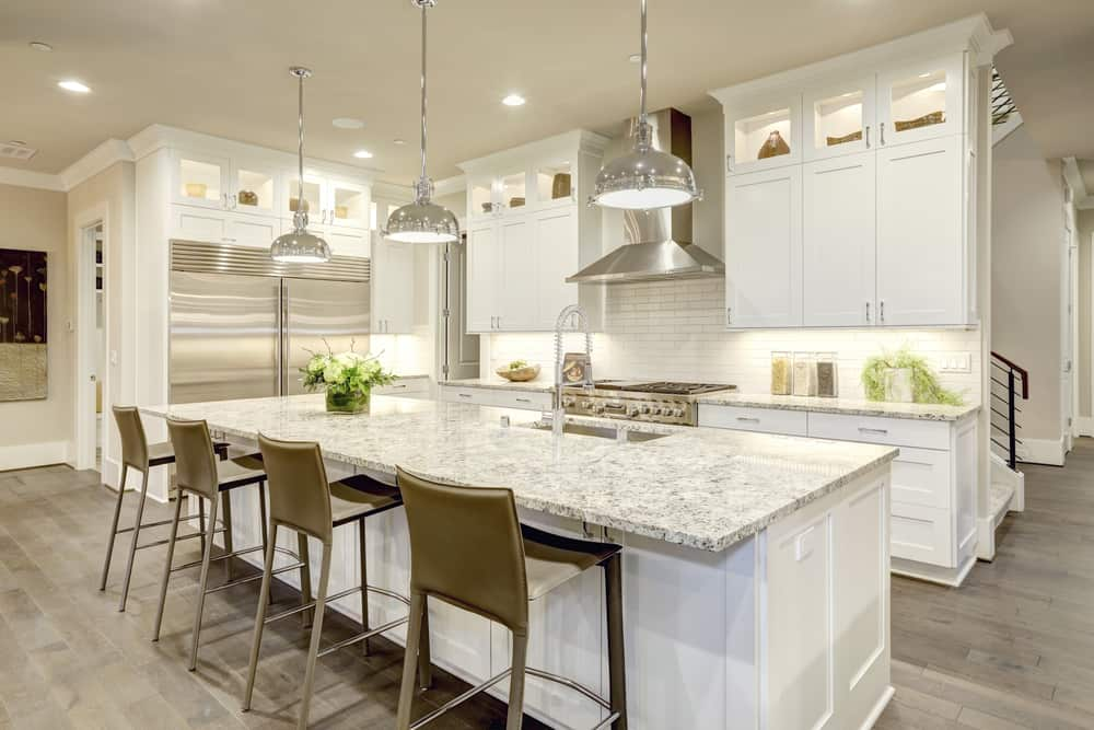 Stainless Steals the Show white kitchen ideas