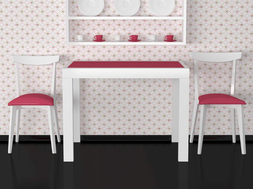 Strawberries in Squares kitchen wallpaper ideas