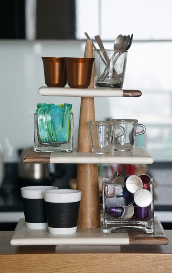 Tiered Tray Stand kitchen coffee bar ideas
