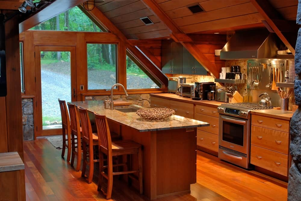 Vaulted Ceilings cabin kitchen ideas