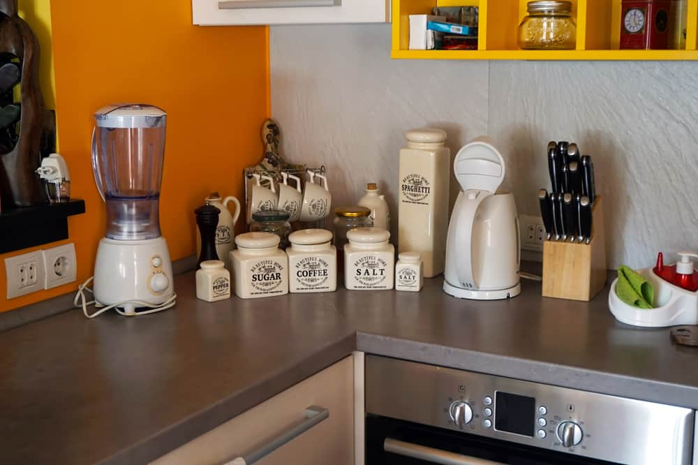 Vintage Coffee and Sugar Containers kitchen coffee bar ideas