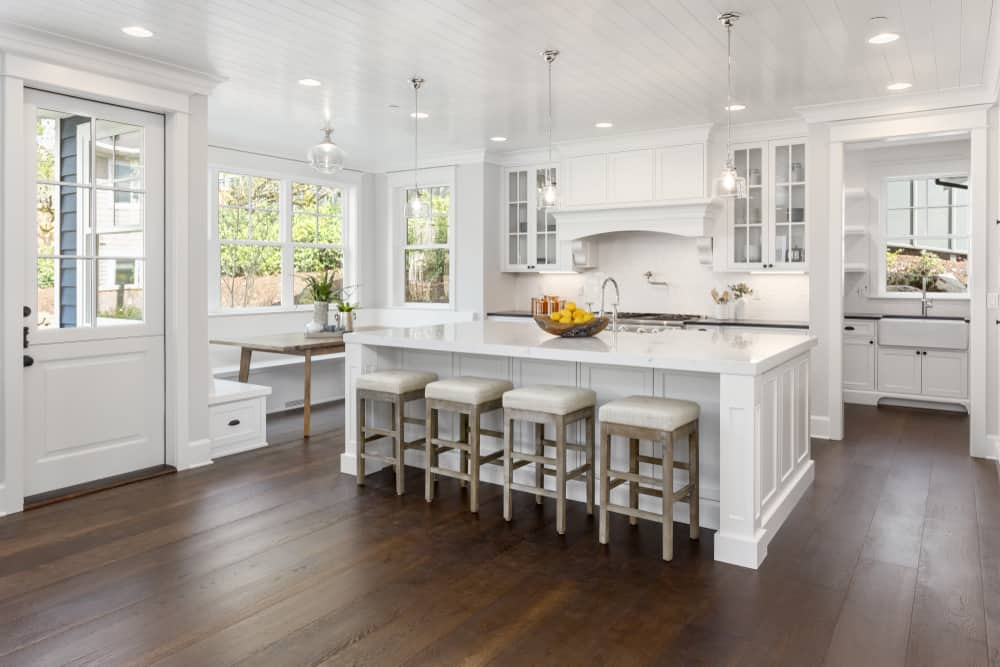 White Kitchen Luxury eat in kitchen ideas