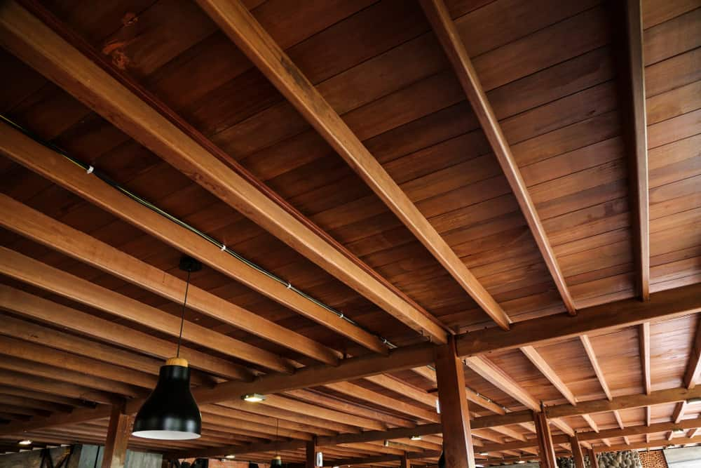 Wood Ceiling With Visible Beams kitchen ceiling ideas